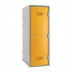 Extreme Plastic Single Door Locker Camlock Yellow 900mm