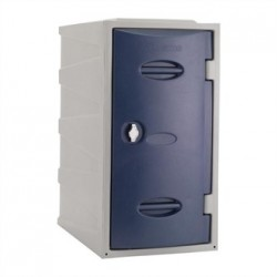 Extreme Plastic Single Door Locker Hasp and Staple Lock Blue 600mm