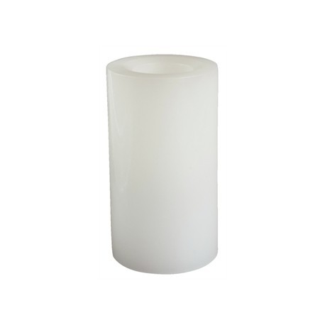 Flameless White Tall Wax Pillar Candles