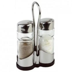 Salt and Pepper Cruet Set and Stand