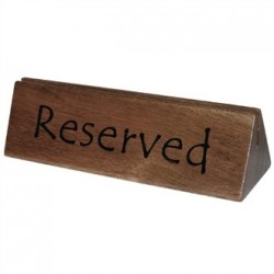 Olympi Acacia Menu Holder and Reserved Sign