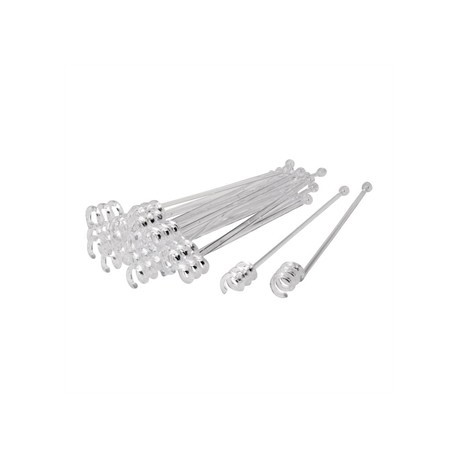 Beaumont Clear Swirl Cocktail Stirrers