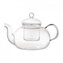 Long Island Glass Teapot 1Ltr (Box 6)