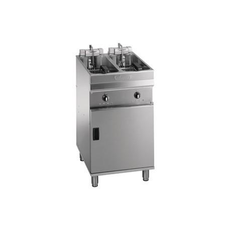 Valentine Evo 2525P Freestanding Twin Basket Fryer with Filtration