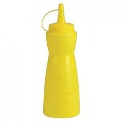 Vogue Yellow Lidded Sauce Bottle