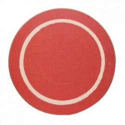 Round Casual Red Dining Mat