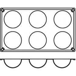 Agnelli Hemispheric, 3Mats, 3 Moulds Each. Dolciflex. 70X35 cm