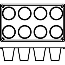 Agnelli Hemispheric, 3Mats, 6 Moulds Each. Dolciflex. 55X60 cm