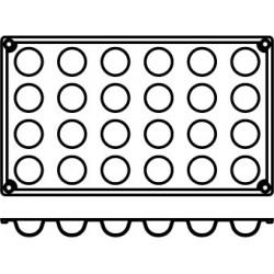 Agnelli Hemispheric, 3Mats, 24 Moulds Each. Dolciflex. 30X17 cm