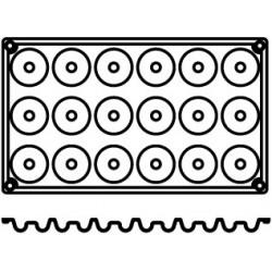 Agnelli Mini-Savarin, 3 Mats, 18 Moulds Each. Dolciflex. 41X21 cm