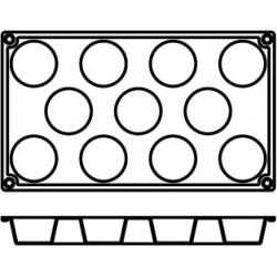 Agnelli Mini-Muffin,3 Mats, 11 Moulds Each. Dolciflex. 50X28 cm