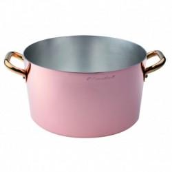 Agnelli Saucepot, 2 Handles, Tinned Copper . 18 cm