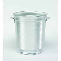 Agnelli Champagne Bucket,  Alu Natural, Hammered cm