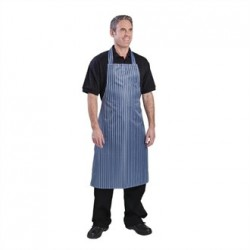Whites Waterproof Bib Apron Blue And White Stripe