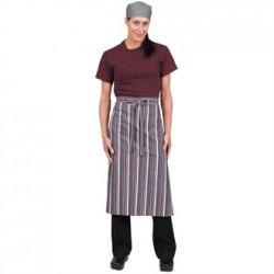 Chef Works Bistro Apron Merlot Grey White Stripe