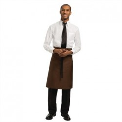 Uniform Works Regular Bistro Apron Chocolate