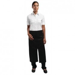 Uniform Works Bistro Apron Split Front Black