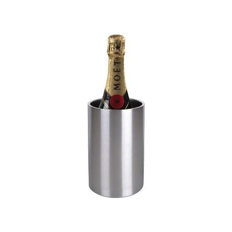 Olympia Wine Bottle Cooler Brushed Steel