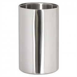 Wine Bottle Cooler Brushed Polished Steel