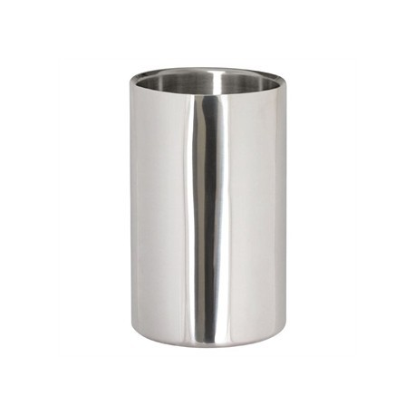 Wine Bottle Cooler Brushed Polished Steel