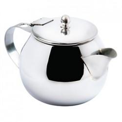 Olympia Non-Drip Teapot Stainless Steel 15oz