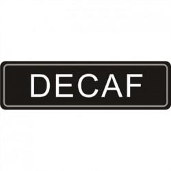 Airpot Decaf label