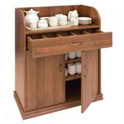 Deluxe Dumbwaiter With Doors Walnut
