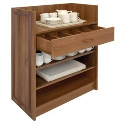 Dumbwaiter Without Doors Walnut