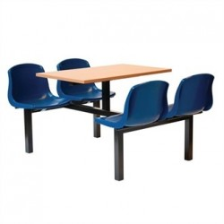 Bolero Four Seater Dual Access Canteen Unit Beech and Blue