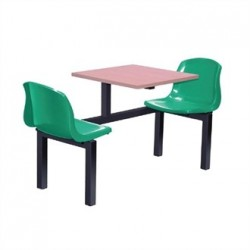 Bolero Two Seater Side Access Canteen Unit Beech and Green