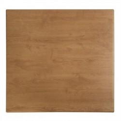 Werzalit Square Table Top Oak Effect 700mm