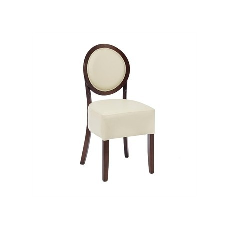 Bolero Dining Sidechairs Ivory Round Back (Pack of 2)