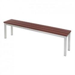 Enviro Outdoor Walnut Effect Faux Wood Bench 160cm