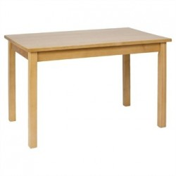 Dining Table Wooden Natural Finish 1220mm