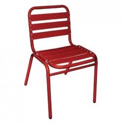 Bolero Bistro Sidechairs Aluminium Red (Pack of 4)