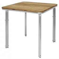 Bolero Square Ash and Aluminium Table 700mm